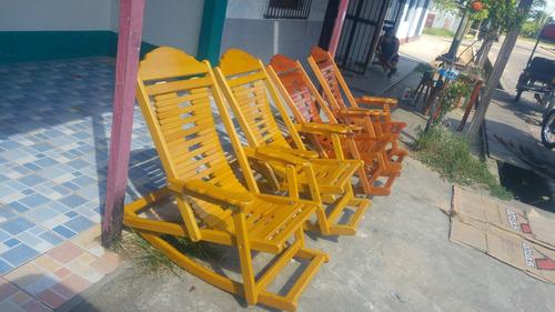 silla mecedora de madera kiyo bordon regulable