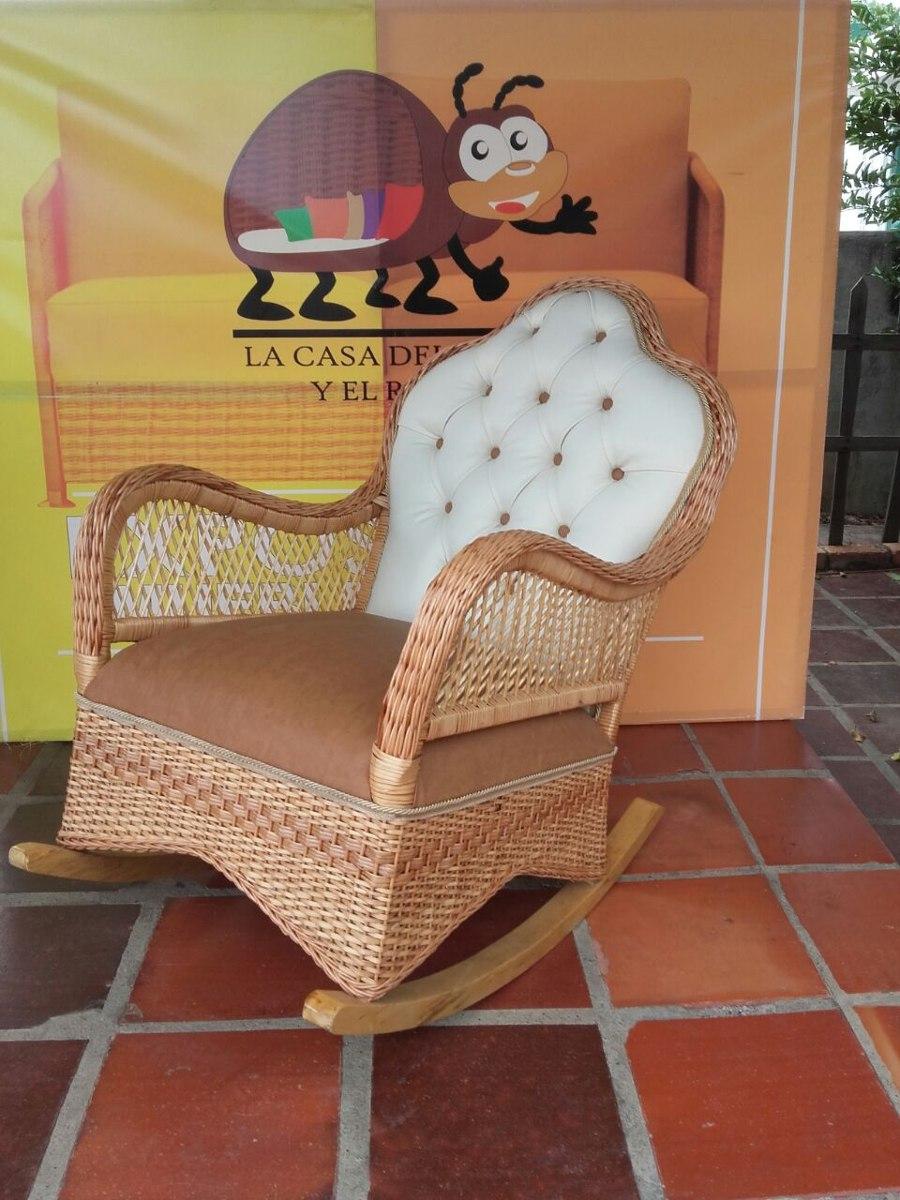 a5424772a Silla Mecedora En Fibra Natural, Mimbre - $ 300.000 en Mercado Libre