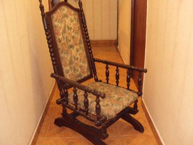 a85ab796d Silla Mecedora Estilo Español Antigua Excelente Estado - $ 3.900,00 ...
