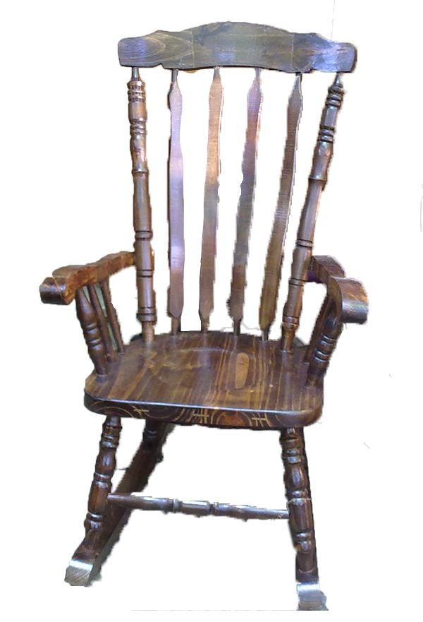 Silla mecedora grande muy comoda en madera la cueva for Muebles la silla