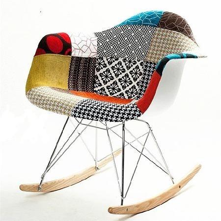 silla mecedora interior exterior moderna tapizado colores - Mecedoras Modernas