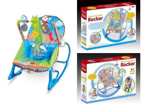 silla mecedora musical para bebe 3 en 1
