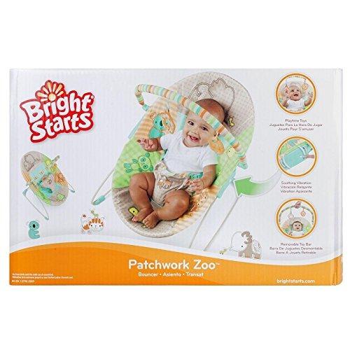 Silla mecedora para beb bright starts patchwork zool gico - Silla colgante para bebe ...