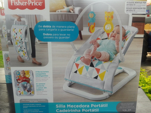 silla mecedora portatil fisher price - unisex nuevo