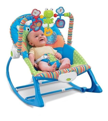 silla mecedora, vibradora y musical para bebe 3 en 1 babyon