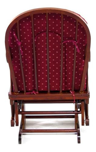 silla mecedora vintage comoda madera acolchonado velikka