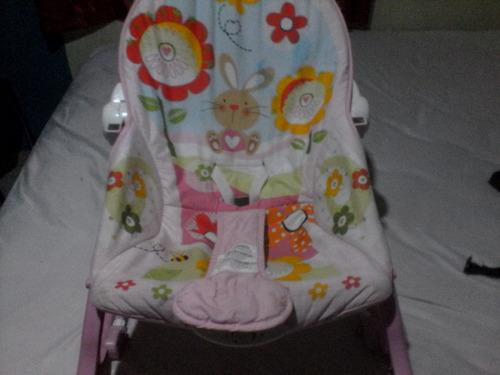 silla mecedora y vibra para bebe marca fisher -price