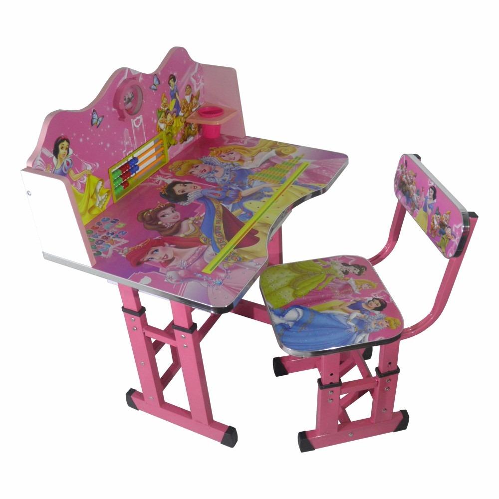 Silla mesa juego de escritorio para ni as de princesas for Mesa escritorio infantil