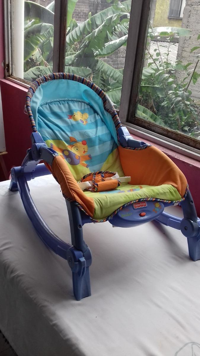 f6bc1e286 Silla Mesedora Para Bebé Fisher Price Usada - $ 350.00 en Mercado Libre