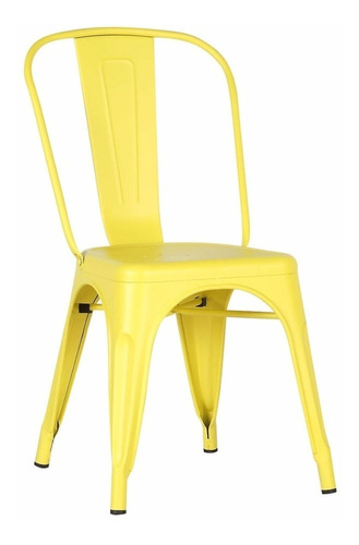 silla metal tolix opaca amarillo retro 83117 fernapet