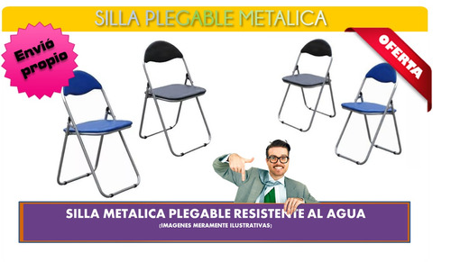 silla metalica plegable.