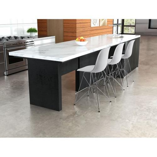 silla modelo zip counter - blanco këssa muebles