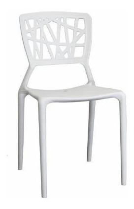 silla moderna deluxe plastico premium blanca importada