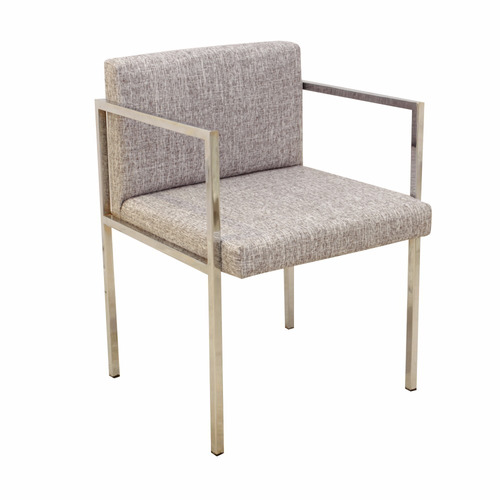 silla moderna oficina cromada tapizada forbidan muebles