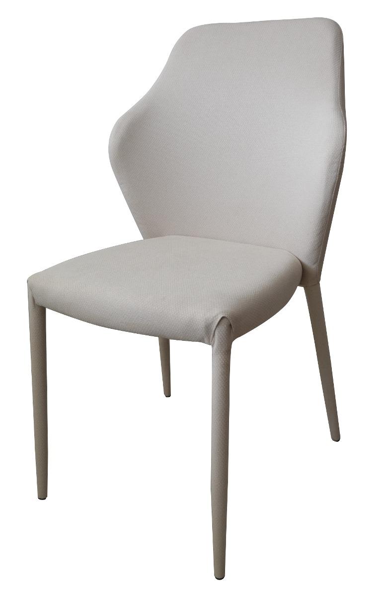 Silla moderna para comedor en tela y patas forradas - Tela para sillas de comedor ...