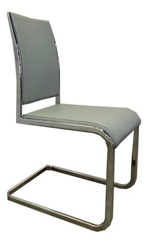 silla moderna para comedor gris umberto capozzi