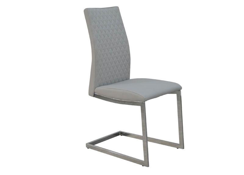 Silla moderna para comedor tapizado madrid gris claro for Sillas de comedor tapizadas en gris