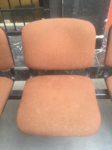silla modular de 3 cuerpos  sala de espera