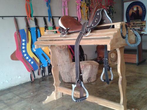 silla nº12 para caballos de coleo herraje acero aperos