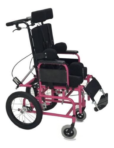 silla neurologica  basculable reclinable  en aluminio