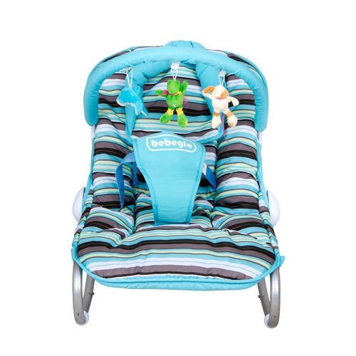 silla nido bebeglo mecedora bebe balancin 0-12 meses celeste