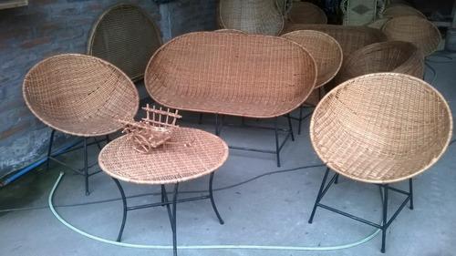 silla nido de mimbre oferta