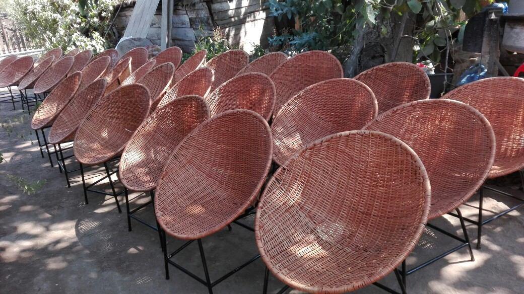 Silla nido de mimbre version econ mica en for Terrazas economicas chile