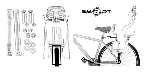 silla niños para bicicleta con porta equipaje smart de lujo
