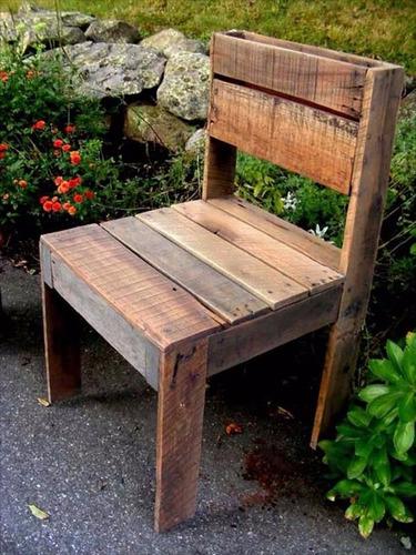 silla nogal madera reciclada pantano pallet silla a medida