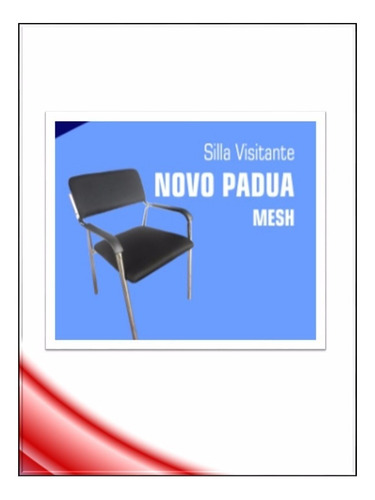 silla novo padua mesh c/b visitante oficina pcnolimit mx