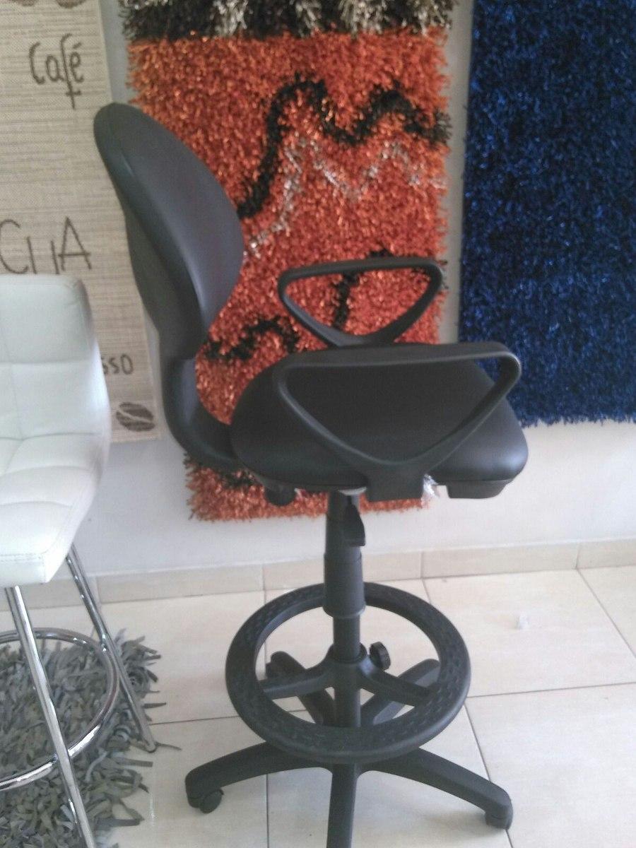 Silla oficina alta para dibujo o cajero ergon mica for Silla giratoria ergonomica
