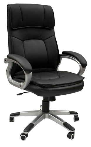silla oficina diseño genova sillon gerencial ecocuero negro