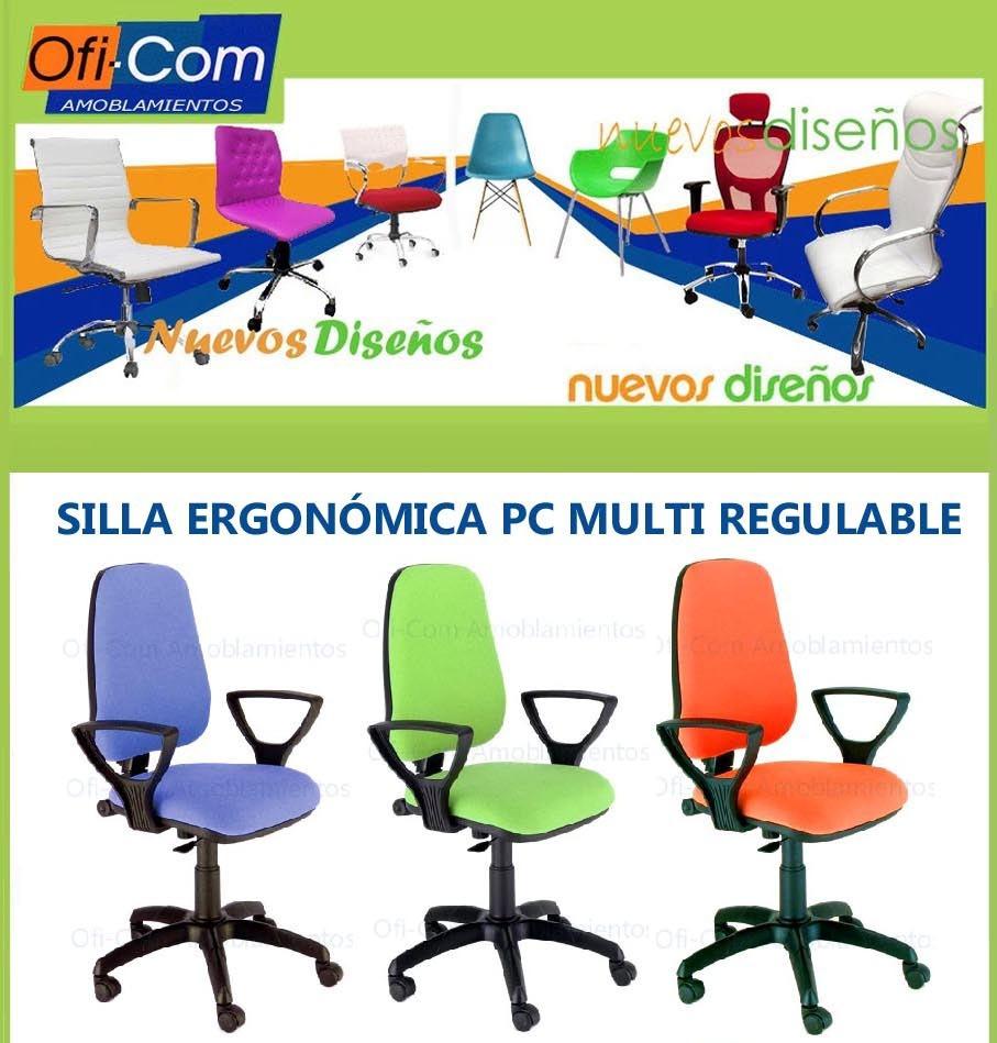 Silla Oficina Ergonomica Pc Computadora Multi Regulable 1 998  # Muebles Ergonomicos Para Computadora