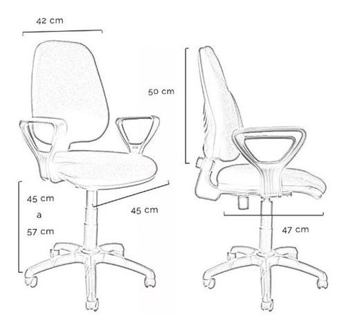 silla oficina ergonomica pc regulable rudy 3 años gtia