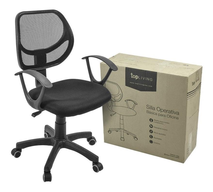 Silla oficina escritorio secretarial silla ergonomica for Silla escritorio oficina