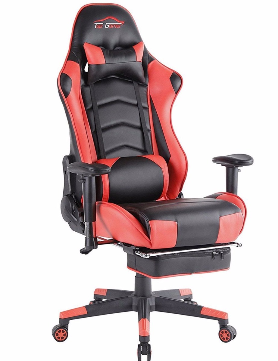 Silla Oficina Ejecutiva Envio Gamer Gratis Cuero Rojo Pc R54AjL3