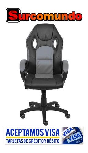 silla oficina / gamer z-501 cuero pu base nylon en oferta !