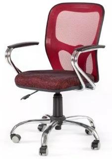 silla oficina india con brazos y base cromados kromo-s