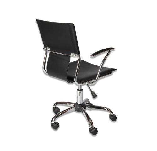 silla oficina mesa escritorio brazos cromada negra colimport