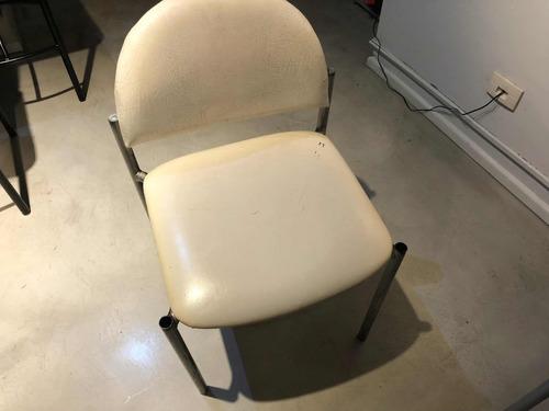 silla oficina metal caño vintage antigua a reciclar