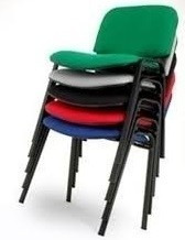 silla oficina recepción ap40 x4 apilable kromos colores vs.