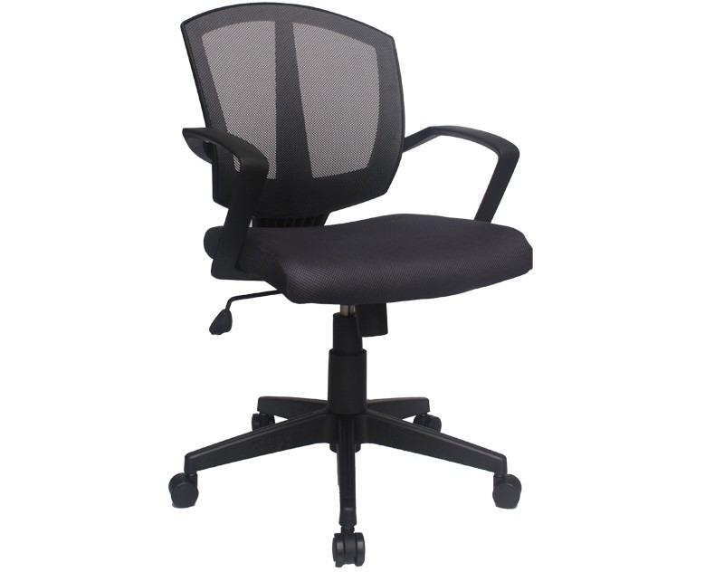 Silla oficina semi ejecutiva altura ajustable soporte for Altura silla