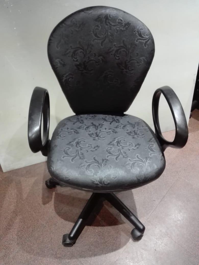 Silla Oficina Tapizado Nuevo Negro Labrado - $ 1.500,00