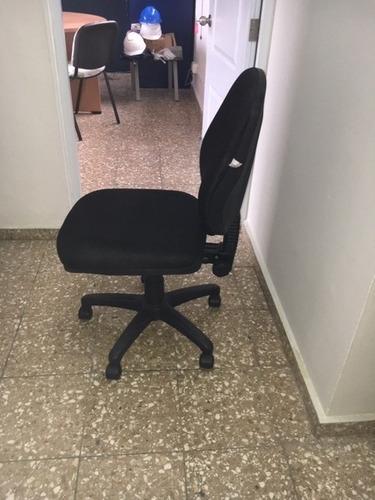 silla oficina tela especial sin brazos