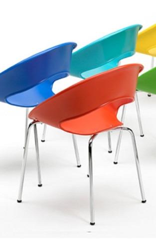 silla one fija base gris color hogar oficina espera kromo-s