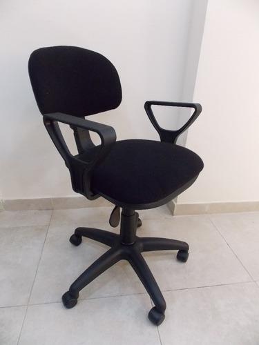 silla operativa tapizada respaldo bajo