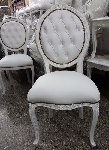 silla oval luis xv xvi inglés francés - los vasquitos