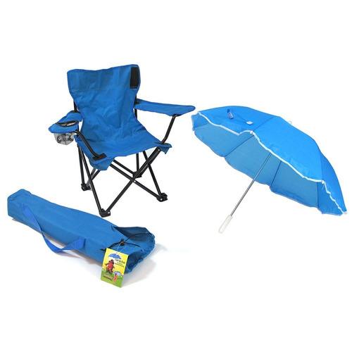 silla para acampar para niños color azul redmon for kids