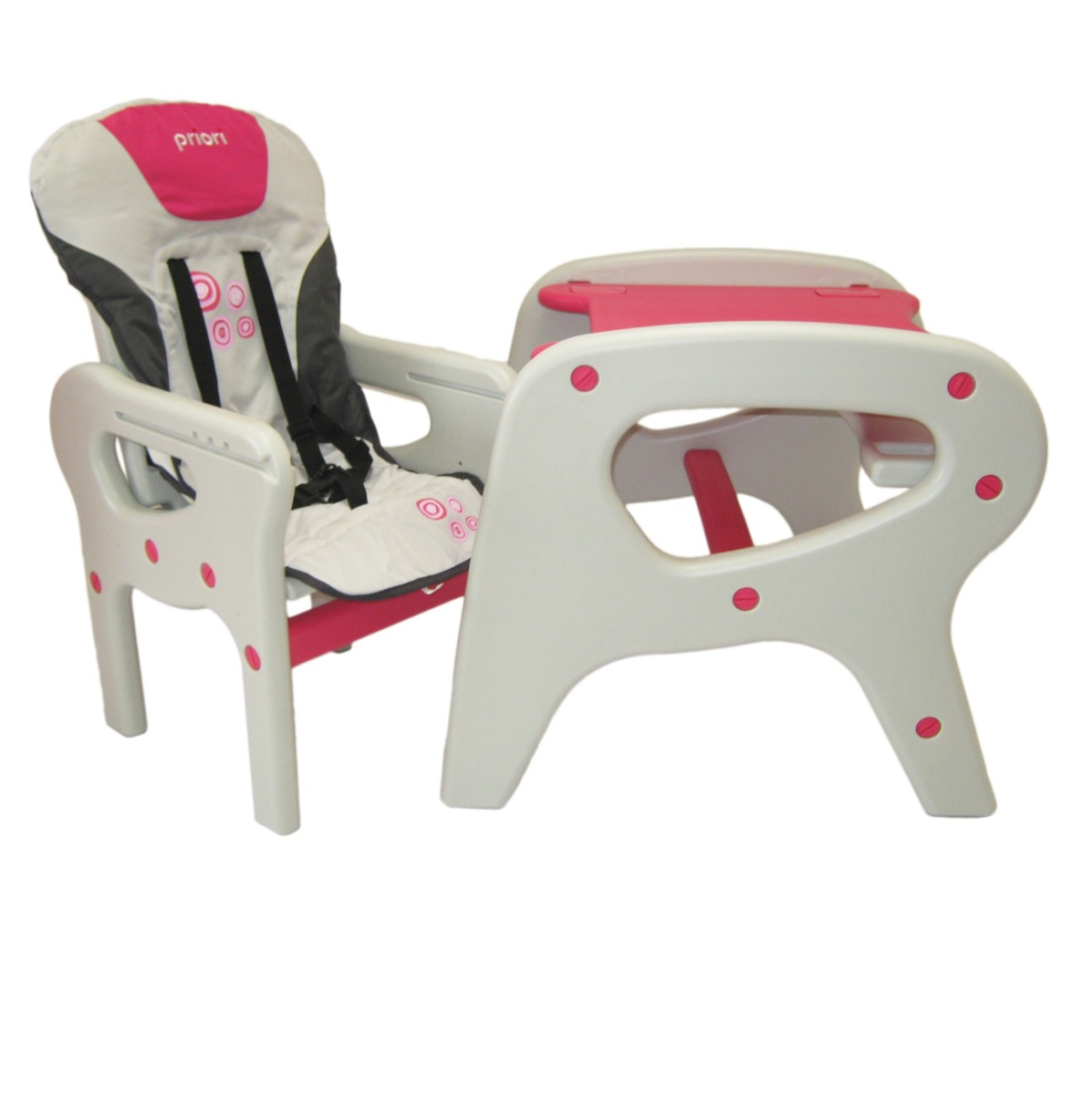 Silla comedor alta escritorio 2 en 1 para beb marca priori en mercado libre - Silla de mesa para bebe ...