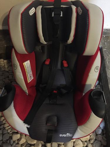 silla para bebe en el carro evenflo